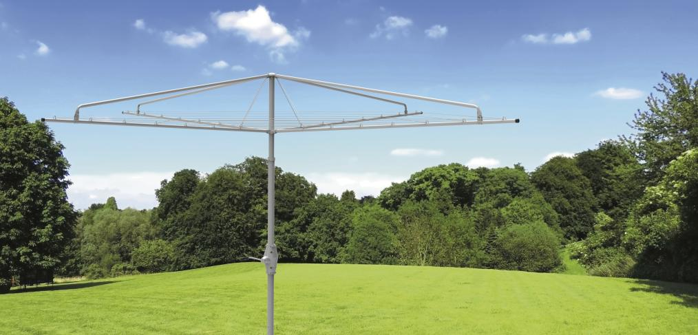 How to install a rotary clothesline